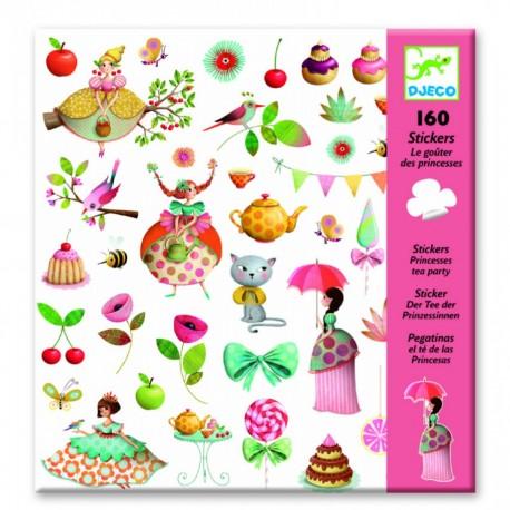 Djeco klistermærker - Prinsessens te-selskab