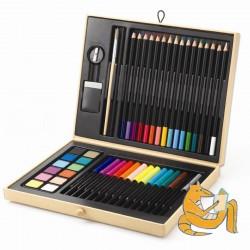 Kreative farver - Malekuffert med farver og tilbehør - Djeco