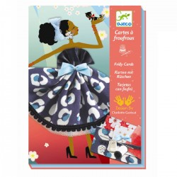 Parisiske kjoler sykort - Kreativ æske - Djeco