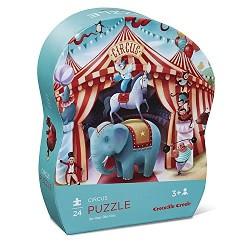 Cirkus - Mini puslespil 24 brikker - Crocodile Creek