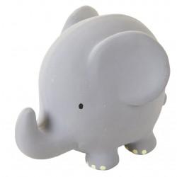 Elefant bidelegetøj - Rangle i naturgummi - Tikiri