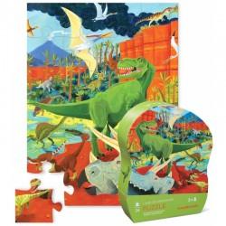 Dinosaurer - Mini puslespil 24 brikker - Crocodile Creek