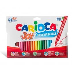Vaskbare tusser - 24 farver i æske - Carioca