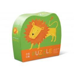 Lille løve - Mini puslespil 12 brikker - Crocodile Creek