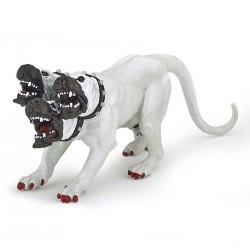 Hvid cerberus hund med tre hoveder - Legefigur - Pabo