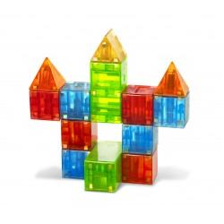 Geometriske byggemagneter 19 stk. - Magna-Qubix