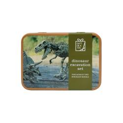 Dinosaur udgravningssæt - Gift in a tin