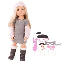 Hannah dukke - Pige med maske-tilbehør - Götz