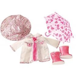 Regnfrakke og tilbehør - Udstyr til dukke - Götz