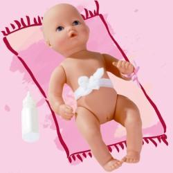 Babypige med blå øjne - Dukke - Götz