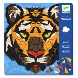 Gorilla & tiger mosaik - Kreativ æske - Djeco