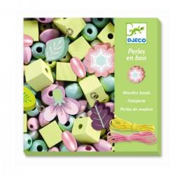 450 grønne træperler - Blomster - Djeco