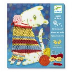 Lær at væve - Kattens trøje - Kreativ æske - Djeco