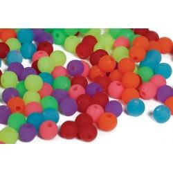 Runde neonperler i bøtte - Pearl n Fun