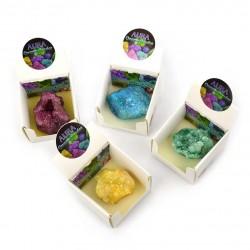 Aura quartz geode