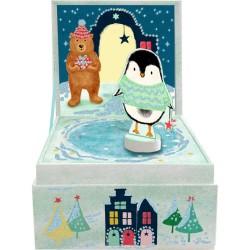 Julenat - Spilledåse med dansende pingvin - Spiegelburg