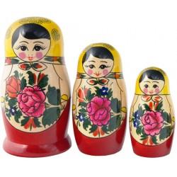 3 stk. Babushka dukker - Traditionel