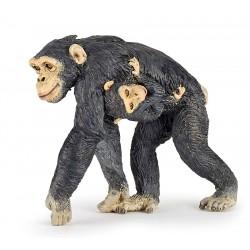 Chimpanse med baby - Figur - Papo