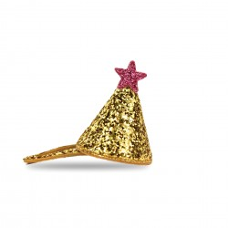 Mini festhat med guld & Glimmer - Hårclips - Milk & Soda