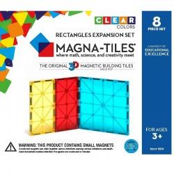 8 firkanter & rektangler - Byggemagneter ekstra dele - Magna-Tiles