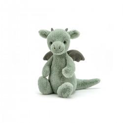 Drage - Lille Bashful bamse - Jellycat
