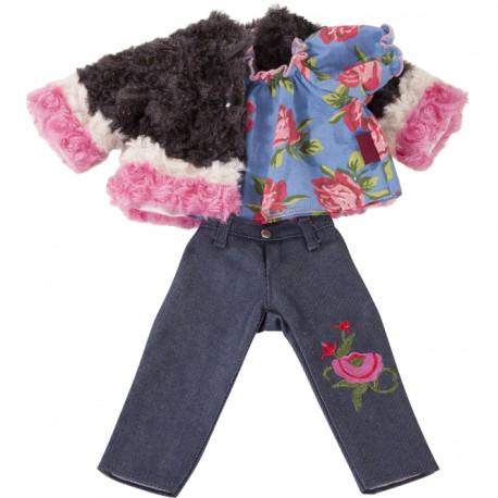 Party denim tøjsæt - Dukketøj (45-50 cm) - Götz