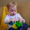 Grøn Bubble bold - Stor - Rubbabu