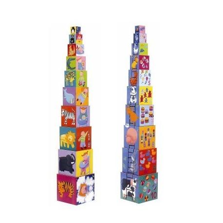 Funny blocks stabeltårn - Djeco
