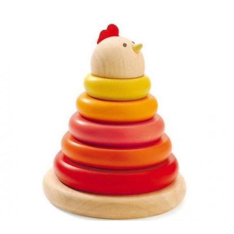Djeco stabeltårn - Høne med æg