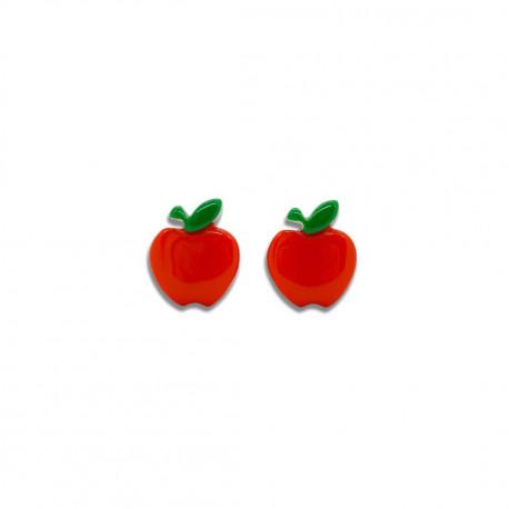 Røde kirsebær - Øreringe med clips - Milk + Soda