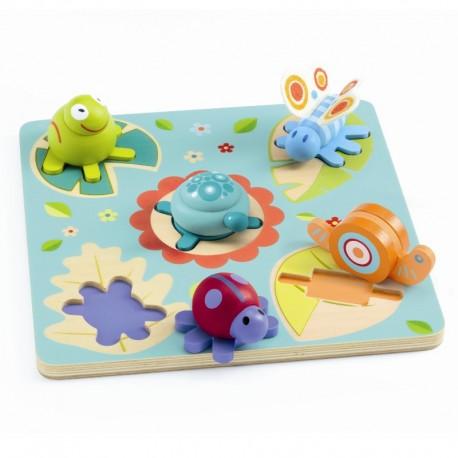 Skildpadde & venner - Puslespil med figurbrikker - Djeco
