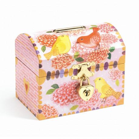 Prinsesse kiste med lås - Sparebøsse - Djeco