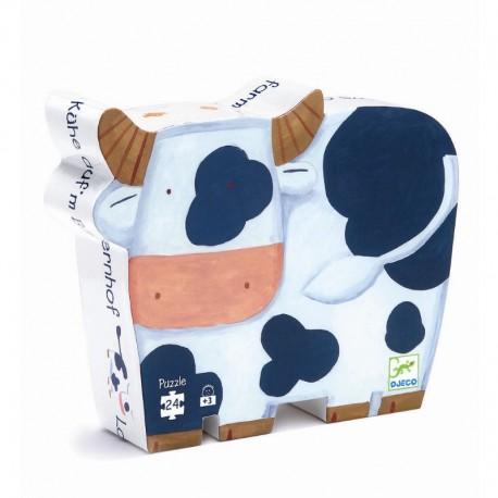 Køer på bondegården - Djeco silhuetpuslespil - 24 brikker