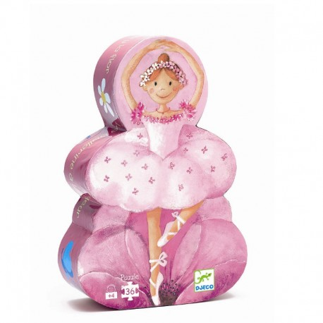 Djeco silhuetpuslespil - Ballerina - 36 brikker