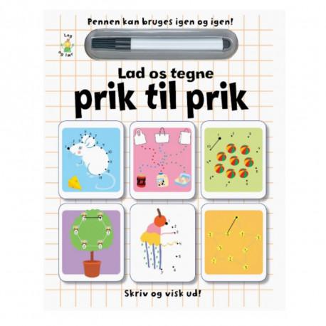 Lad os tegne prik til prik - Skriv & visk ud - Karrusel Forlag