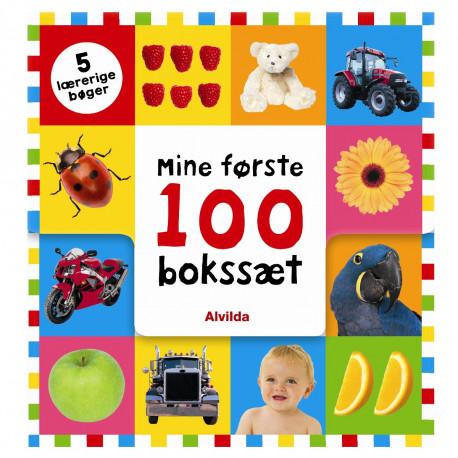 Mine første 100 bokssæt - 5 lærerige bøger - Alvilda