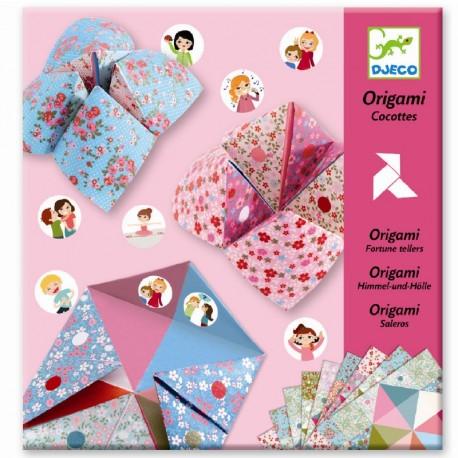 Lyserøde Flip-Flapper - Origami spil - Djeco