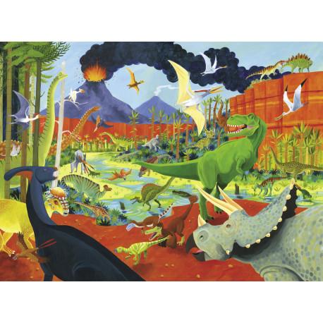 36 dinosaurer - Puslespil 100 brikker - Crocodile Creek