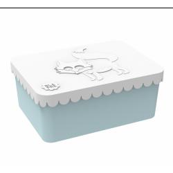 Ræv hvid & blå lille madkasse - Blafre