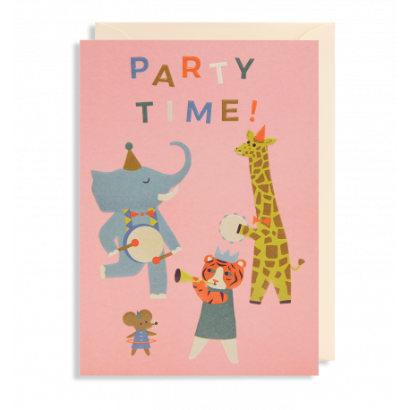 Party Time - Kort & kuvert - Lagom
