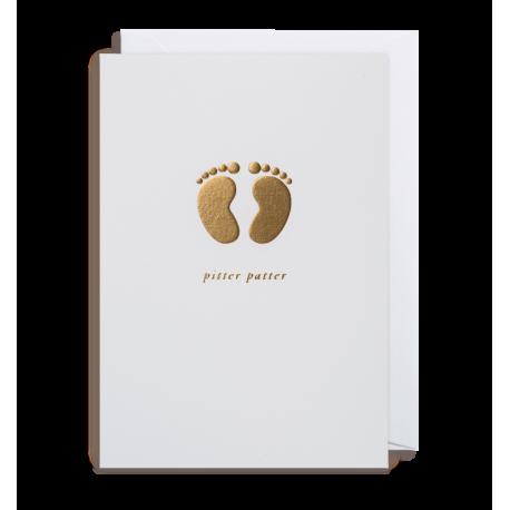 Pitter Patter Baby- Kort & kuvert - Lagom