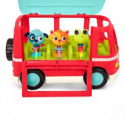 Bus med melodi & lys samt 3 figurer - B. Toys