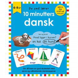 10 minutters dansk - Skriv & visk ud bog - Alvilda