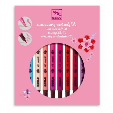10 pink nuancer - 10 tusser med dobbelt-tip - Djeco