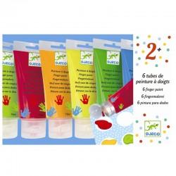 Fingermaling - 6 klassiske farver - Djeco