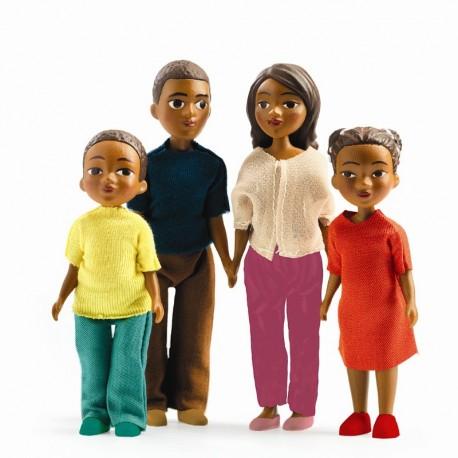 Mila, Milo & børn - Dukker til dukkehus - Djeco