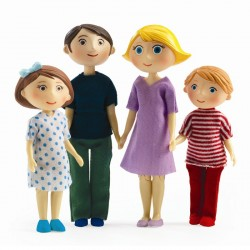 Djeco Petit Home - Dukker - Familien Gaspard og Romy