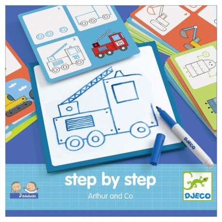 Djeco step by step tegneleg - Arthur og Co