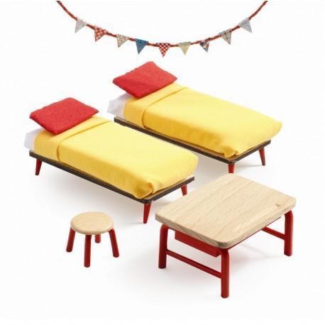 Børneneværelset - Petit Home dukkehusmøbler - Djeco