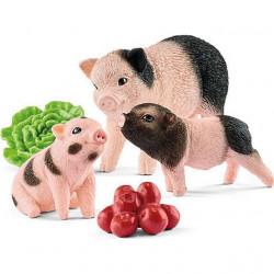 Gris med griseunger - Figursæt - Schleich
